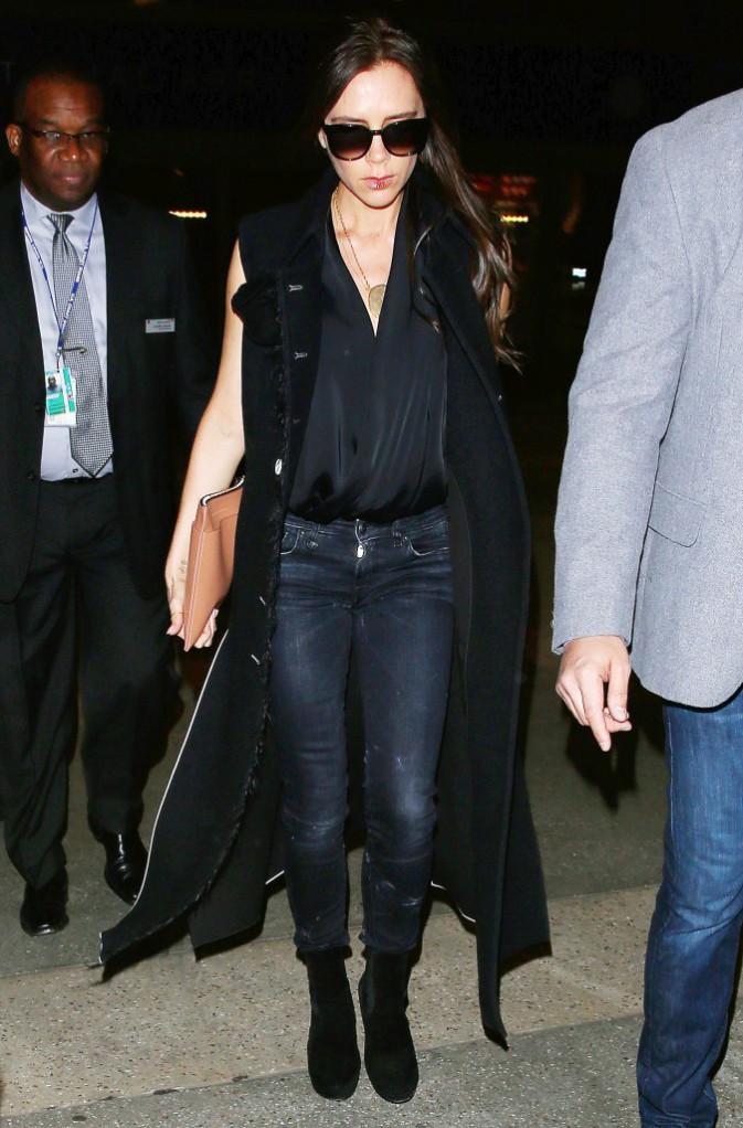Photos : Victoria Beckham : contrairement à son homme, elle se fait belle pour leurs retrouvailles...