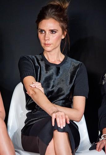 Victoria Beckham en février 2013 pendant la Fashion Week new-yorkaise