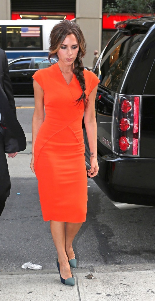 Victoria Beckham lors de la Fashion's Night Out de New York, le 6 septembre 2012.