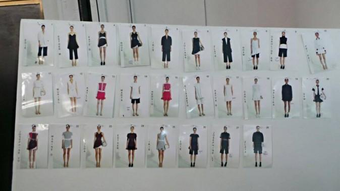 Backstage du défilé Victoria Beckham à New York, le 8 septembre 2013.