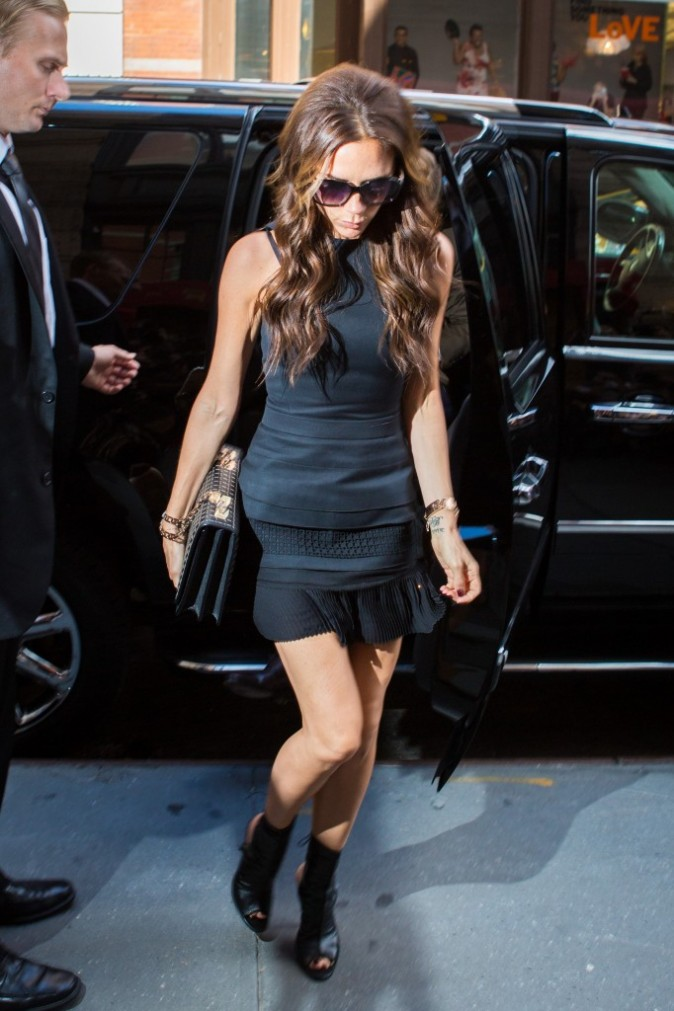 Victoria Beckham à New York à l'occasion de la Mercedes-Benz Fashion Week, le 9 septembre 2012.