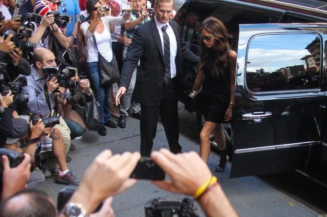 Victoria Beckham en famille à New York à l'occasion de la Mercedes-Benz Fashion Week, le 9 septembre 2012.