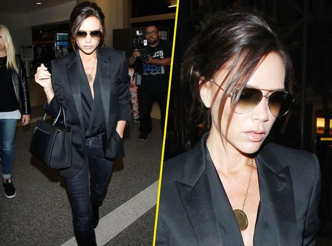 Victoria Beckham : glamour � souhait pour aller rejoindre sa petite famille !