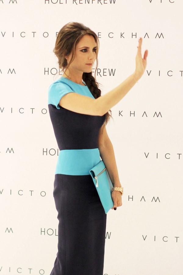 Victoria Beckham lance sa collecton automne/hiver 2013 à Vancouver le 15 juin 2012
