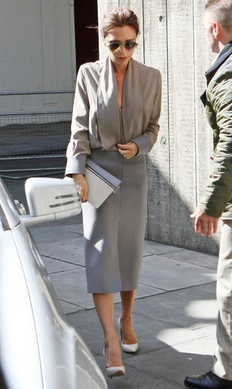 Victoria Beckham, élégante pour se rendre au Vogue Festival