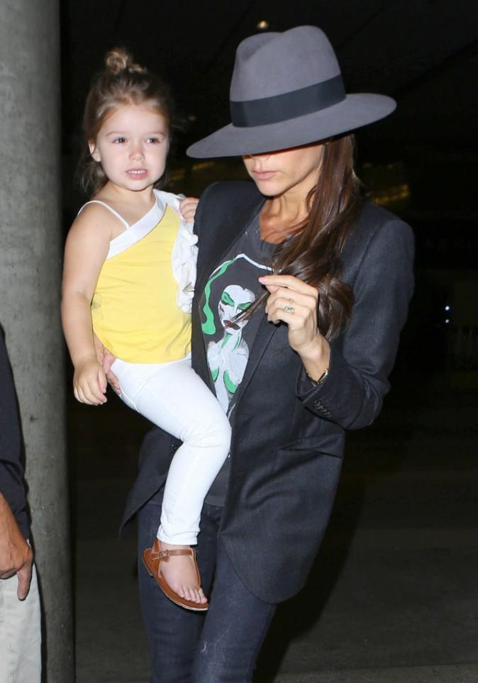 Victoria Beckham et sa fille Harper à Los Angeles, le 18 juillet 2014