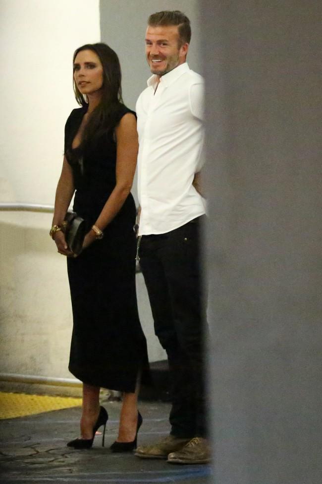 Victoria et David Beckham à Los Angeles le 14 août 2015