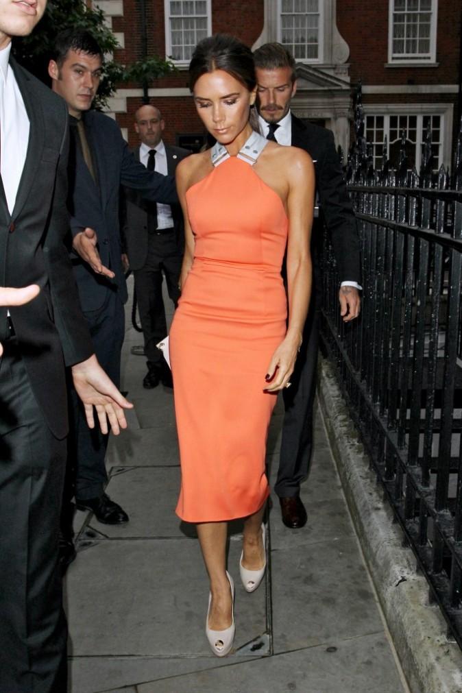 Victoria et David Beckham à Londres, le 9 juillet 2012.