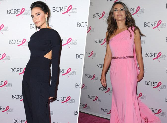 Victoria Beckham : Sublimissime en compagnie d'Elizabeth Hurley pour la bonne cause