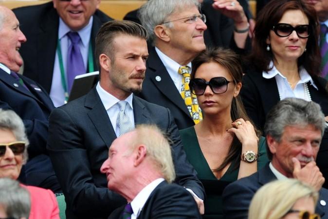 David et Victoria Beckham le 8 juillet 2012 à Winbledon