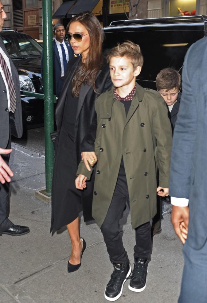 Victoria Beckham en famille à New York, le 9 février 2014.