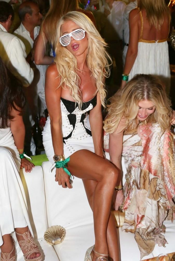 Victoria Silvstedt lors de la soirée d'anniversaire de Fawaz Gruosi à Porto Cervo, le 8 août 2012.