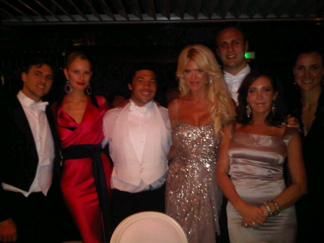 Au dîner de gala du mariage, avec Karolina Kournikova !
