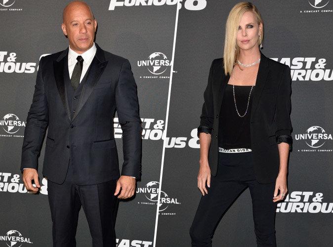 Vin Diesel, Charlize Theron et une pluie d'invités pour la première parisienne de Fast & Furious 8
