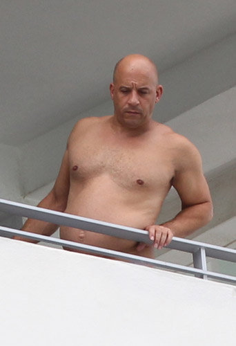 "Photos : Vin Diesel, ""fat and furious"" à Miami… Il est métamorphosé !"