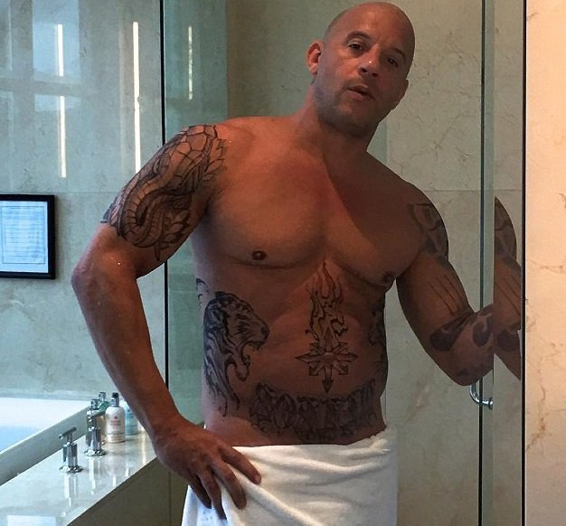 Vin Diesel a publié une photo de lui à moitié nu
