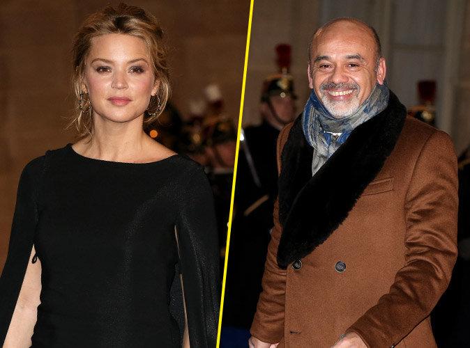 Virginie Efira et Christian Louboutin reçus en grandes pompes à l'Elysée