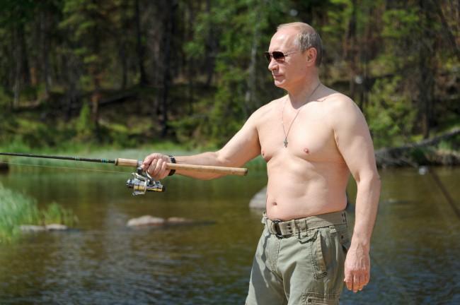 Le président russe s'offre une partie de pêche avec le 26 juillet