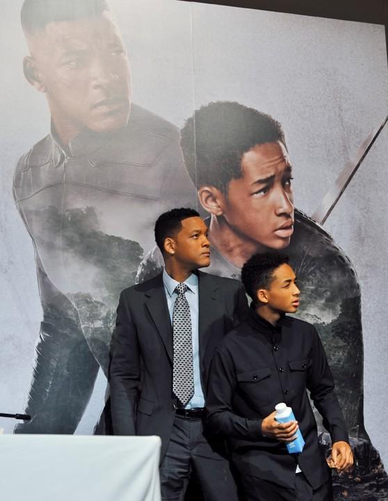 Will Smith et son fils Jaden à l'avant-première d'After Earth à Tokyo le 2 mai 2013