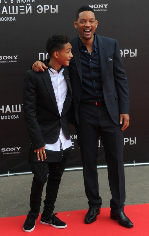 Will et Jaden Smith, Moscou, 27 mai 2013.