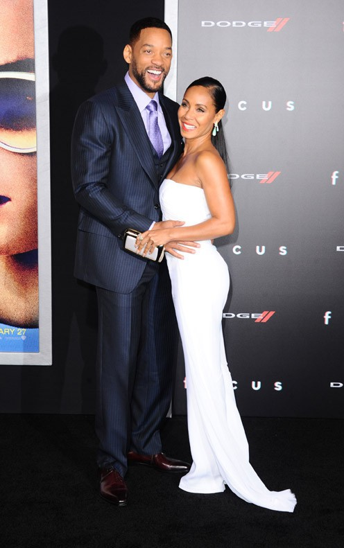 Will Smith et Jada Pinkett à Los Angeles le 24 février 2015