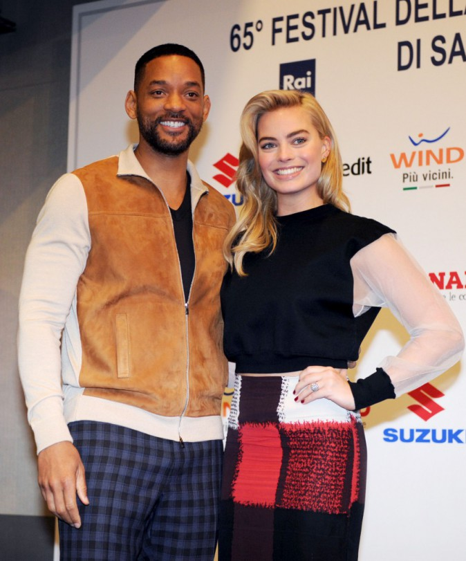Will Smith et Margot Robbie radieux en Italie