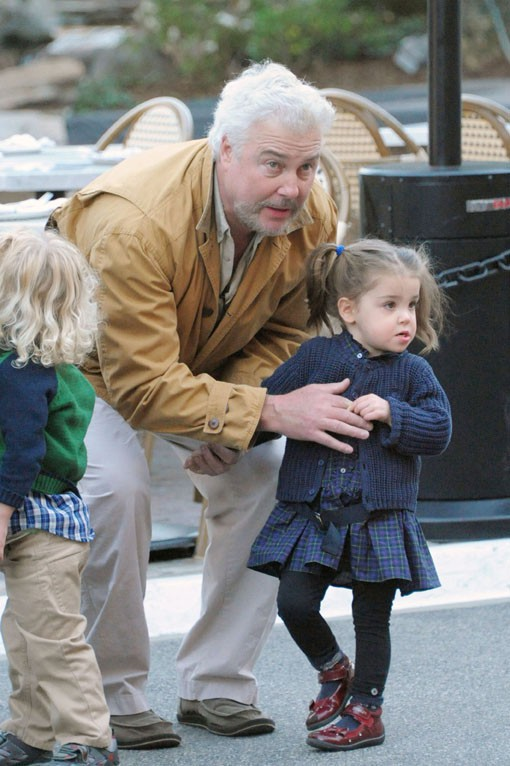 William Petersen en famille à Los Angeles le 11 décembre 2013