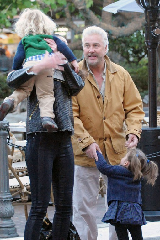 William Petersen en famille à Los Angeles le 11 décembre 2013