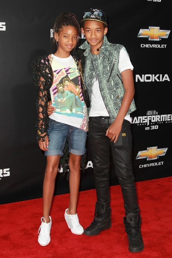 Willow et Jaden Smith à l'avant-première de Transformers 3 à New-York hier.