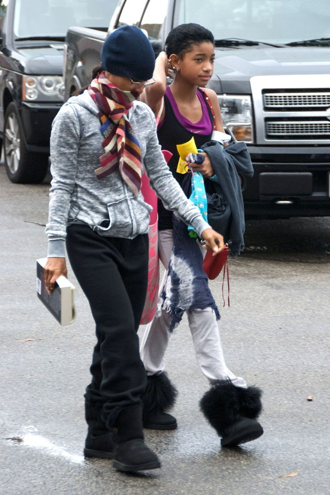 Willow Smith et Jada Pinkett Smith le 8 novembre 2012 à Los Angeles