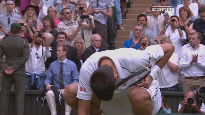 Novak Djokovic le 12 juillet 2015