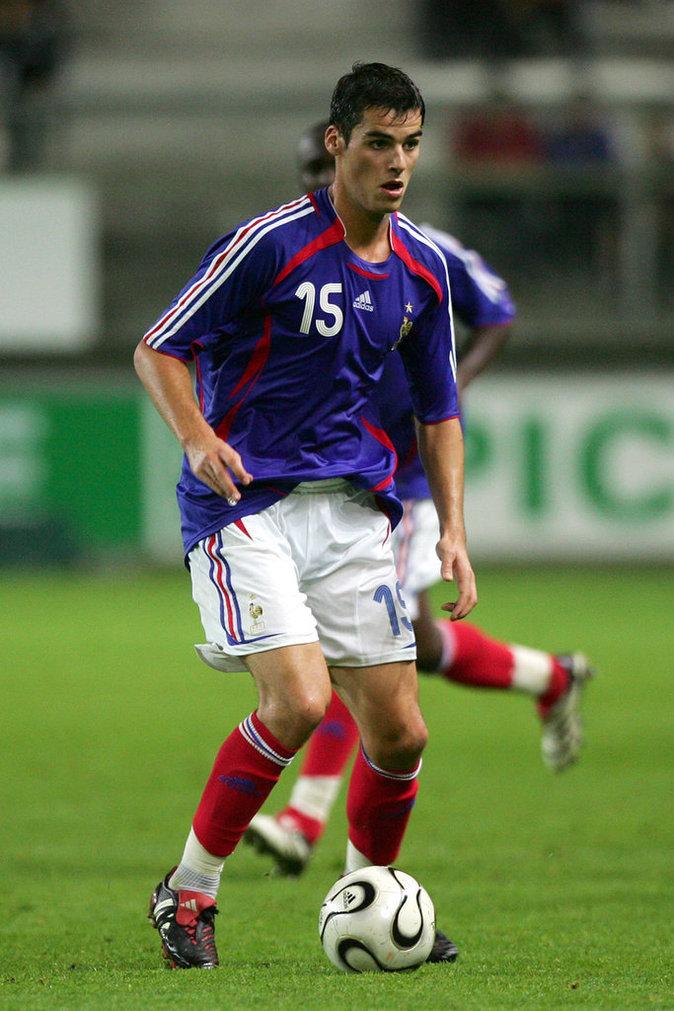 Yoann Gourcuff avec le maillot Bleu