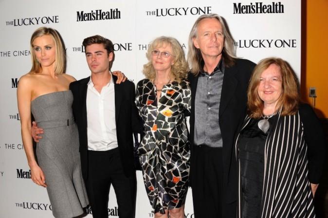 L'équipe du film The Lucky One à New York, le 19 avril 2012.