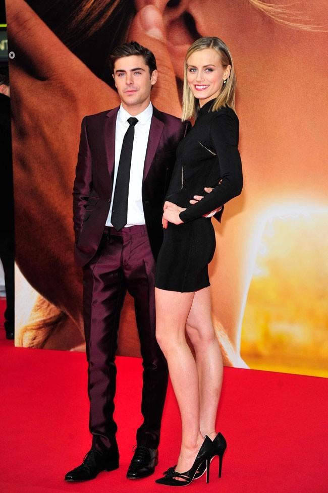 Zac Efron et Taylor Schilling le 25 avril 2012 à Londres