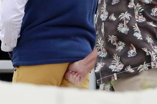 Zac Efron et Robert De Niro sur le tournage de Dirty GrandPa le 27 avril 2015