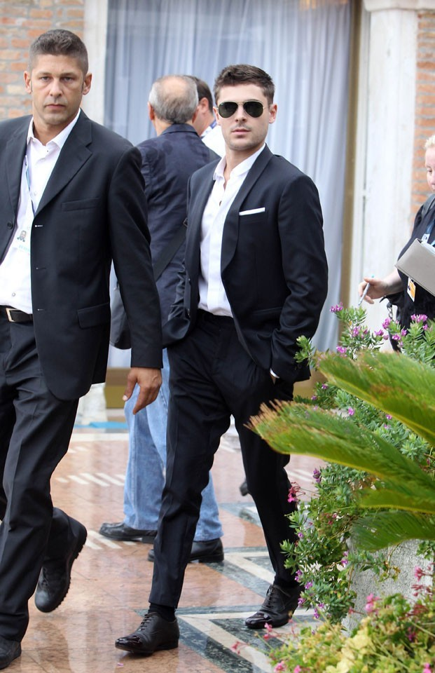 Zac Efron à la Mostra de Venise le 31 août 2012