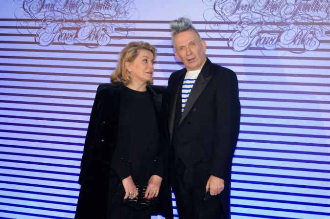 Jean-Paul Gaultier et Catherine Deneuve le 30 mars 2015