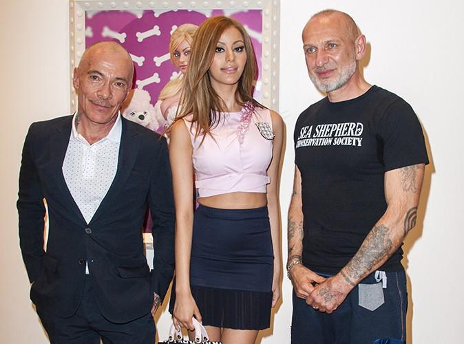 Zahia Dehar, Pierre et Gilles à Paris le 10 avril 2014