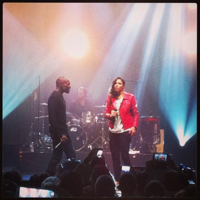 Zaho et Kery James à l'Olympia, le 19 novembre 2013.