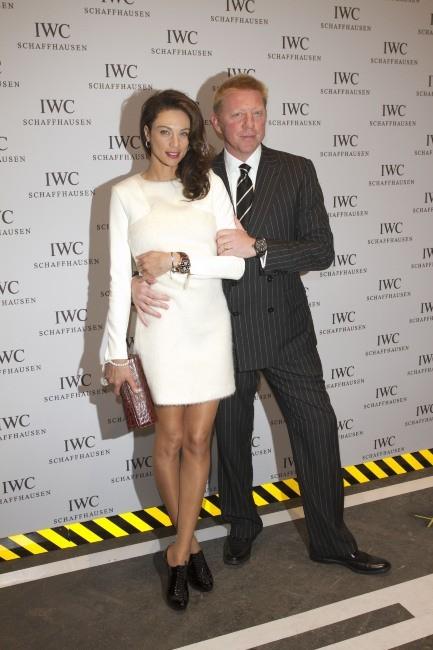 Boris Becker et sa femme Lilly lors de la soirée IWC Schaffhausen Top Gun Gala à Genève, le 17 janvier 2012.