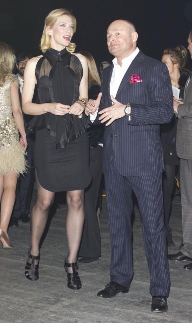 Cate Blanchett et Geroge Kern lors de la soirée IWC Schaffhausen Top Gun Gala à Genève, le 17 janvier 2012.
