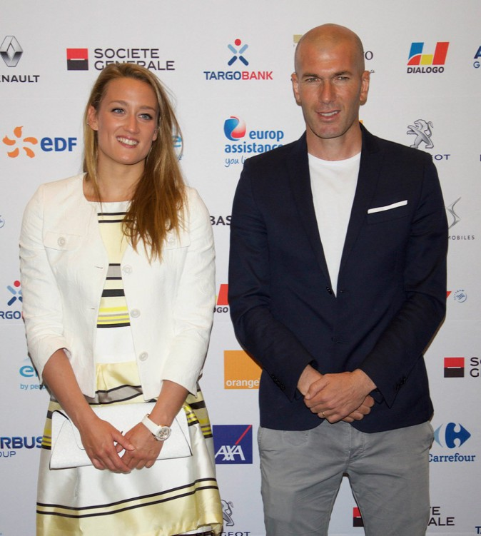 Zinedine Zidane et Mireia Belmonte
