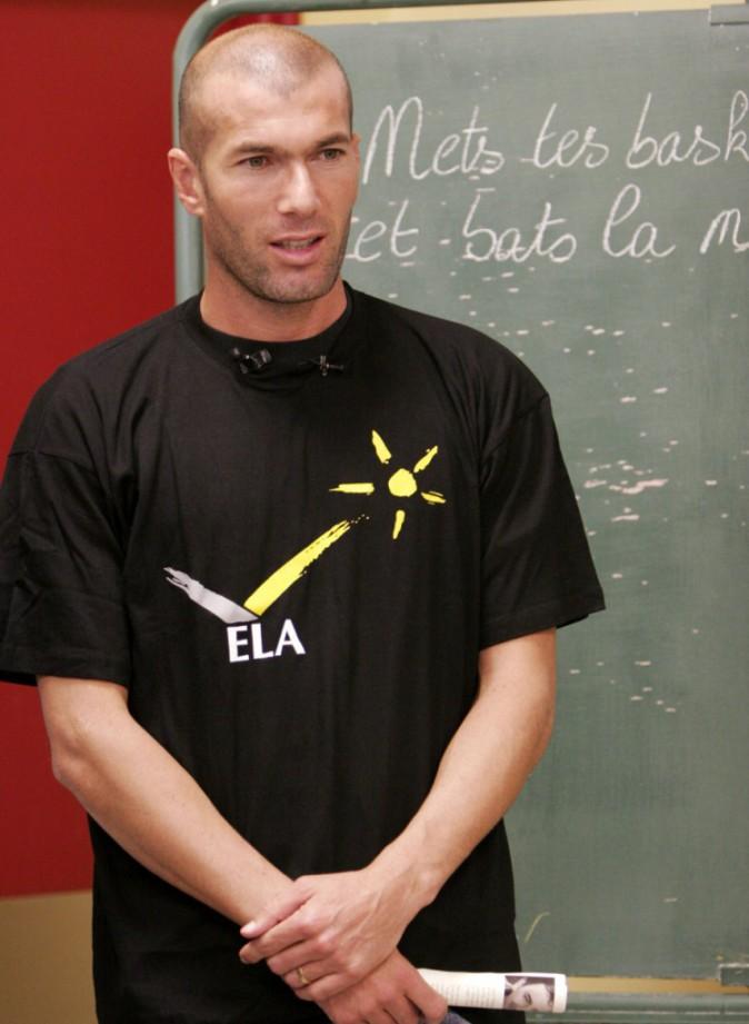 Zinedine Zidane, parrain de l'association ELA