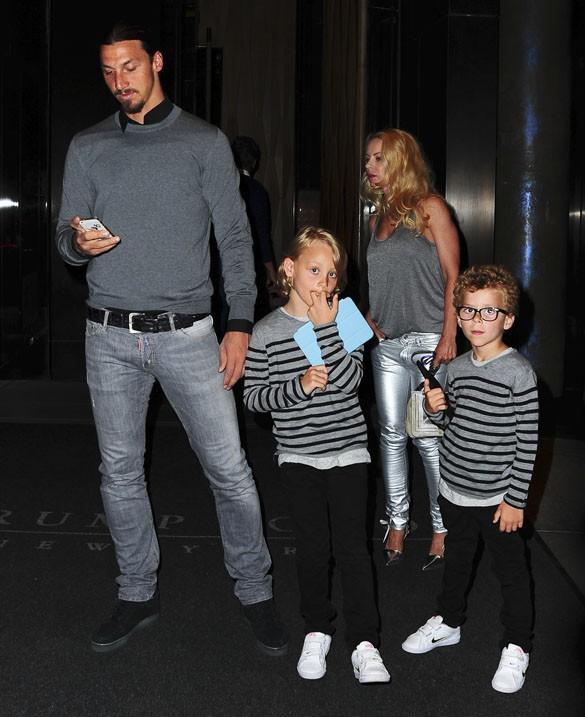 Zlatan Ibrahimovic en famille à New-York le 24 juin 2014