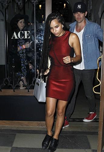 Zoë Kravitz et Chris Pine à Los Angeles le 17 septembre 2014