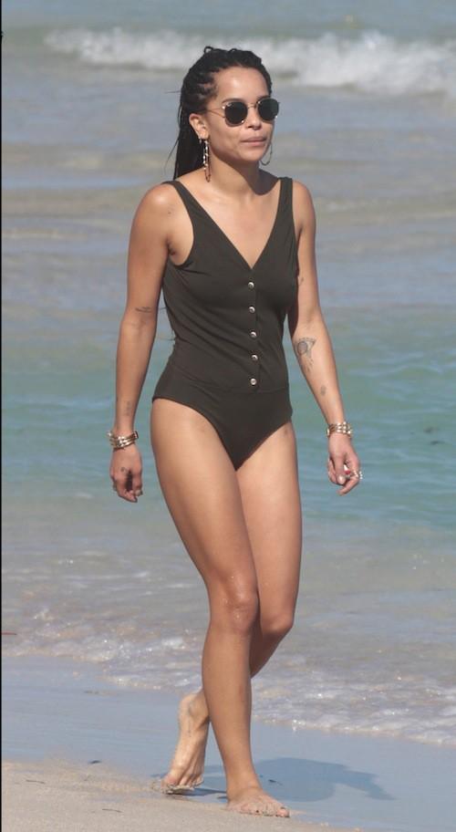 Photos : Zoe Kravitz : sirène à Miami, elle esquive son père à Hollywood !