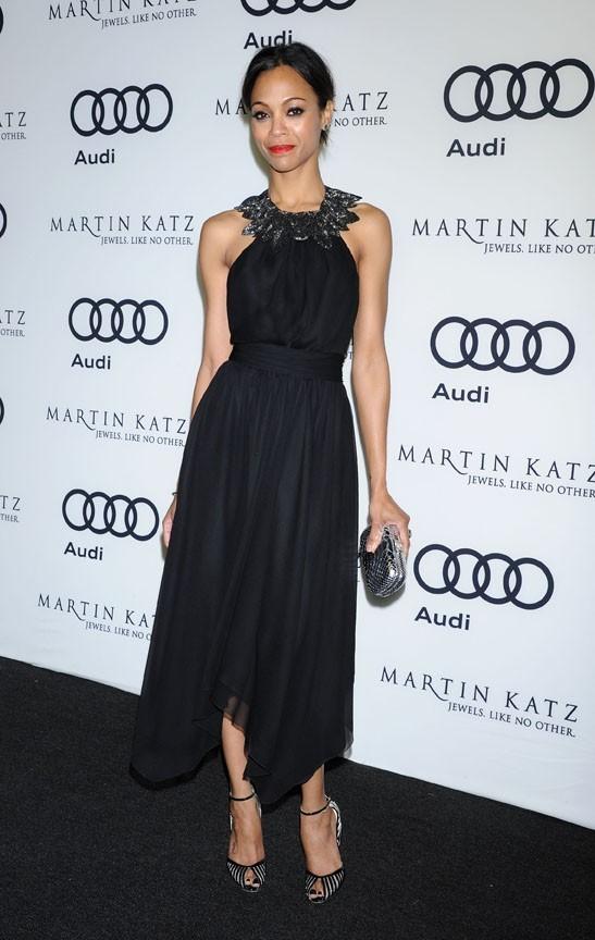 Zoe Saldana à la soirée Audi hier dans le West Hollywood !