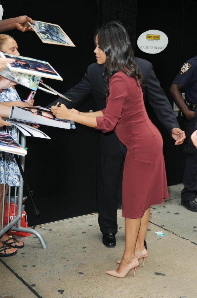 Zoe Saldana à New York, le 28 juillet 2014