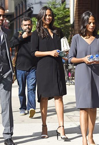 Zoe Saldana à New York le 10 septembre 2014