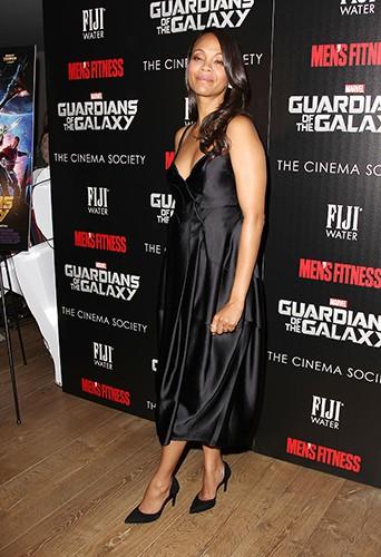 Zoe Saldana à New York le 29 juillet 2014